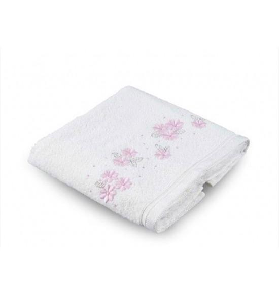 Полотенце бамбуковое с вышивкой Tac Basil 50x90 см (крем)
