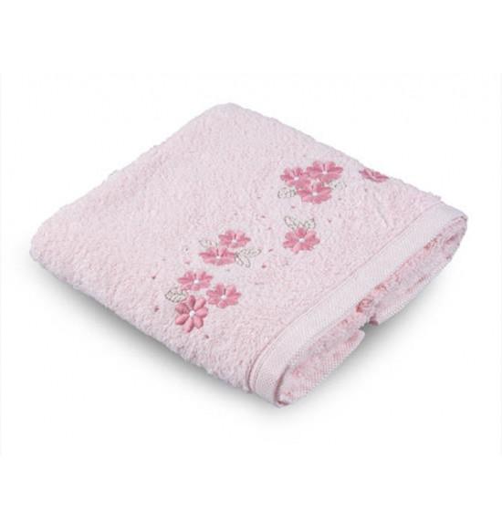 Полотенце бамбуковое с вышивкой Tac Basil 50x90 см (розовый)