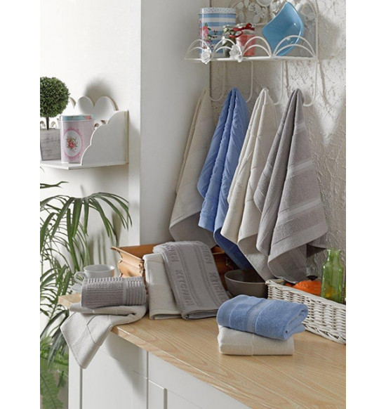 Набор махровых салфеток Tac Comfort Tarla 40x60 см 1/2