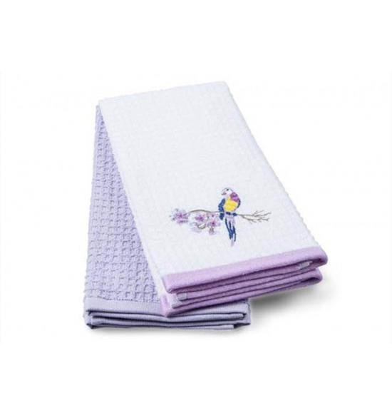 Набор махровых салфеток с вышивкой Tac Lily 40x60 см 1/2