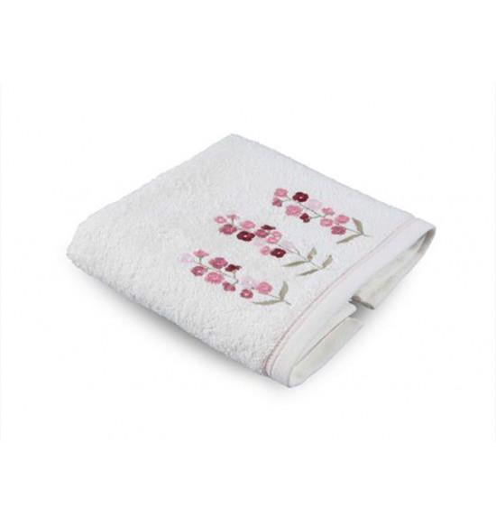 Полотенце махровое с вышивкой Tac Leona 50x90 см (крем)