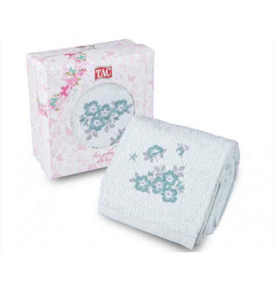 Полотенце с вышивкой в коробке Tac Meggy 50x90 см (минт)