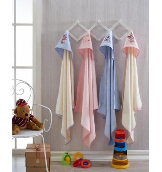 Детское полотенце с капюшоном Tac Lighthouse 90x90 см (голубой)