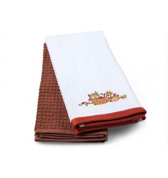 Набор махровых салфеток с вышивкой Tac Pumpkin 40x60 см 1/2