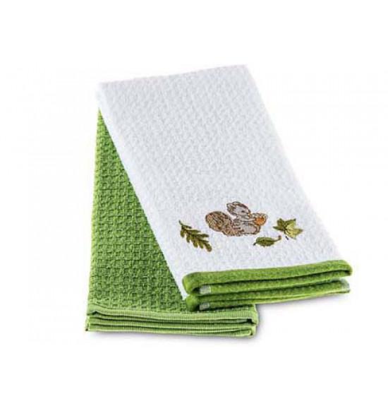 Набор махровых салфеток с вышивкой Tac Squirrel 40x70 см 1/2