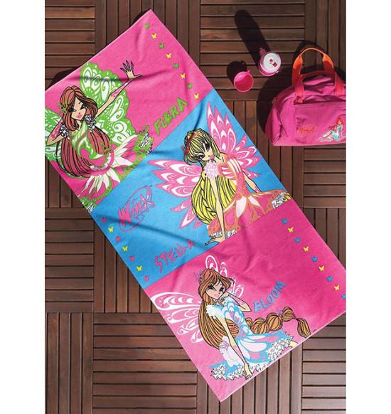 Детское пляжное полотенце TAC Winx Sparkle 75x150