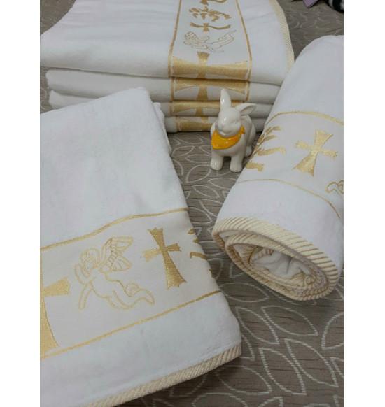 """Полотенце для крещения махровое c жаккардовым рисунком """"Diva"""" 70x140 см"""
