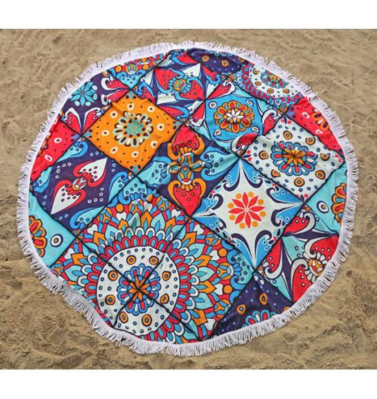 'Полотенце пляжное круглое Irya India 150 см