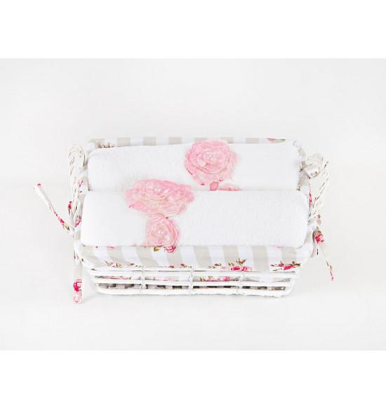 Набор полотенец в подарочной корзине Irya PINKROSE 50х90*2