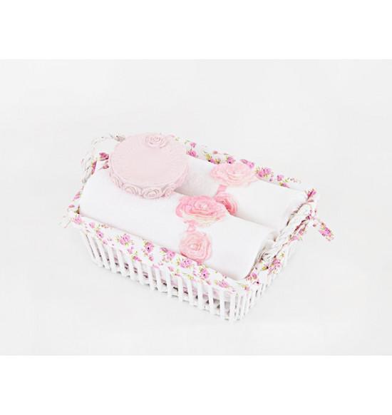 Набор подарочный 3-х предметный PINKROSE: полотенце Irya 2х50х90 + мыльница