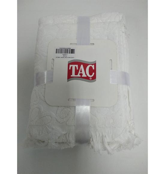 """Комплект махровых полотенец """"TAC"""" Lace 40х76-69х127 см 1/2 cream"""