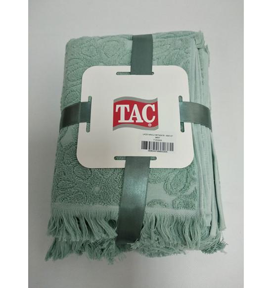 "Комплект махровых полотенец ""TAC"" Lace 40х76-69х127 см 1/2 Mint"