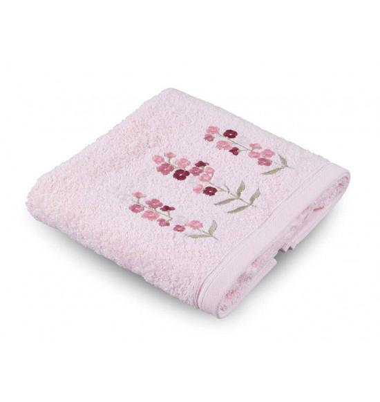 Полотенце махровое с вышивкой Tac Leona 50x90 см (розовый)