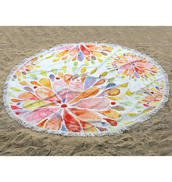 Полотенце пляжное круглое Home Purplee Lola 150 см