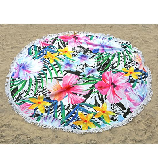 Полотенце пляжное круглое Home Purplee Maldiv 150 см
