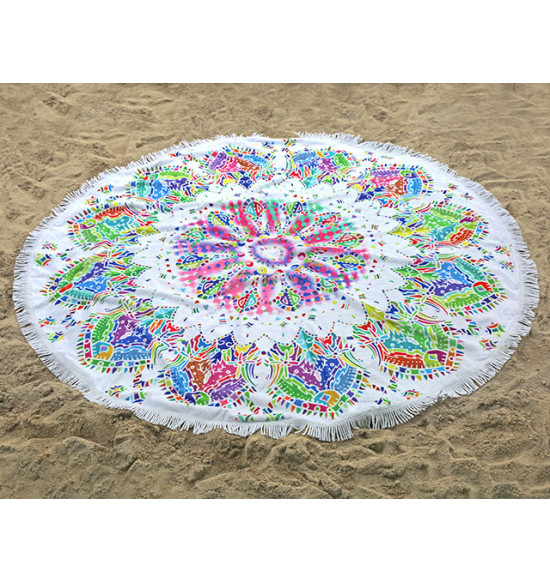 Полотенце пляжное круглое Home Purplee Mila 150 см