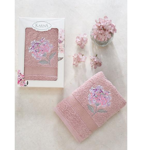 """Полотенце махровое """"KARNA"""" Opak 50x90 см (Темно-розовый)"""
