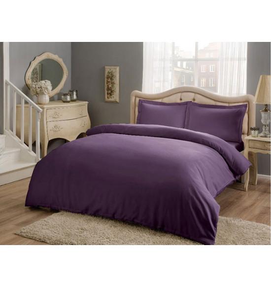 Постельное белье TAC 2 сп. евро сатин Basic (фиолетовый)