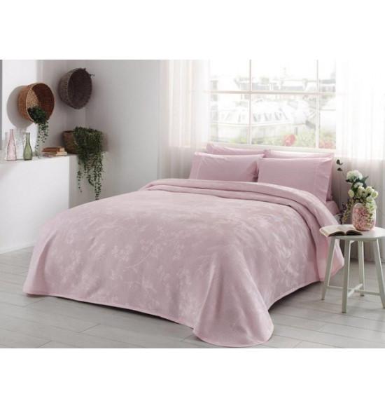 Комплект белья TAC 2.0 сп. Claire с покрывалом (розовый)