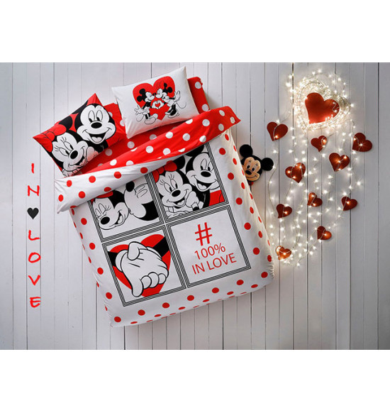 Постельное белье TAC 2.0 сп. Ranforce Disney Minnie&Mickey Dotty