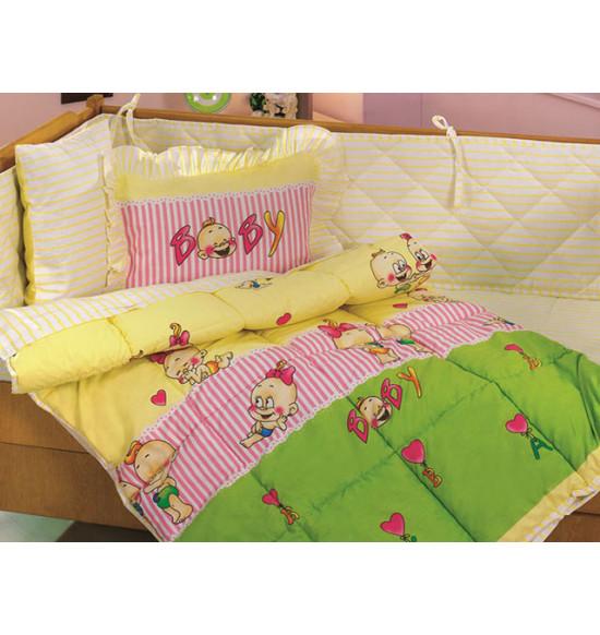 Комплект белья для новорожденных KRISTAL (желтый)
