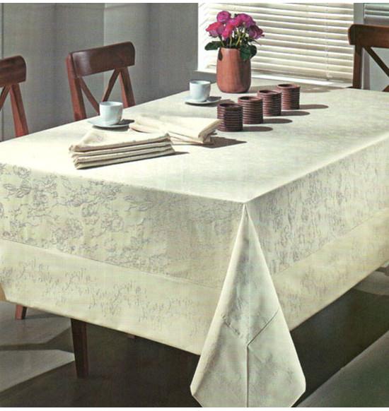 Скатерть ТАС квадратная  180х180 см + 6 салфеток  (персиковая)