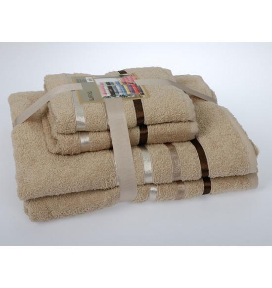 "Комплект полотенец ""Karna"" Bale 50х80 (2шт) 70х140 (2 шт) (Бежевый)"