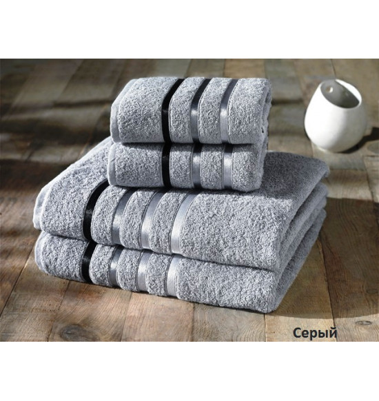 "Комплект полотенец ""Karna"" Bale 50х80 (2шт) 70х140 (2 шт) (Серый)"