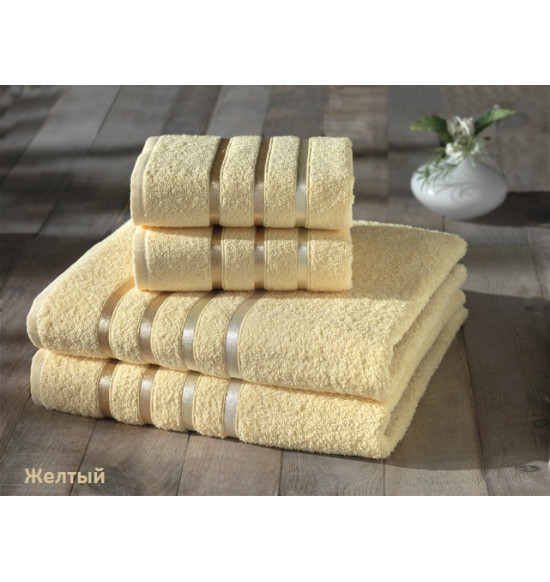 "Комплект полотенец ""Karna"" BALE 50х80 (2шт) 70х140 (2 шт) (Желтый)"