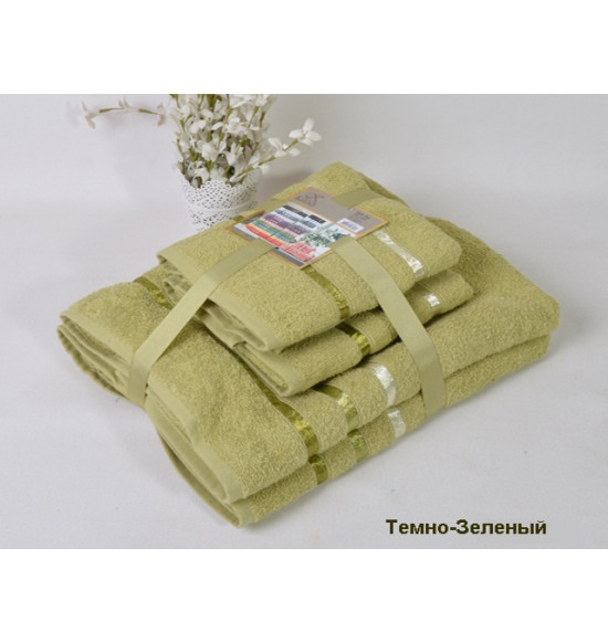 "Набор полотенец ""Karna"" BALE 50х80 (2шт) 70х140 (2 шт) (зеленый)"