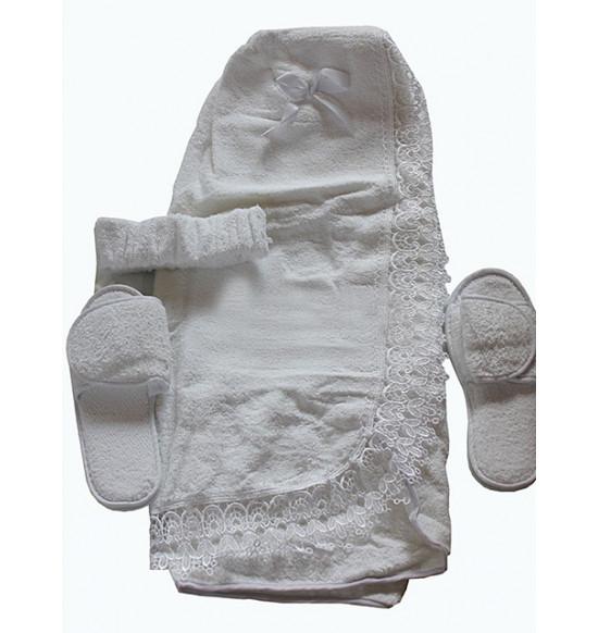 Набор для сауны женский Dolce Vita (крем, белый)