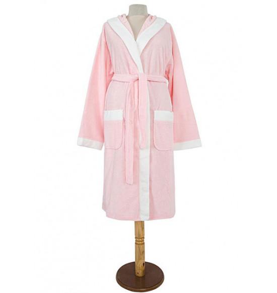 Халат женский Irya Twist S-M розовый с кремовым
