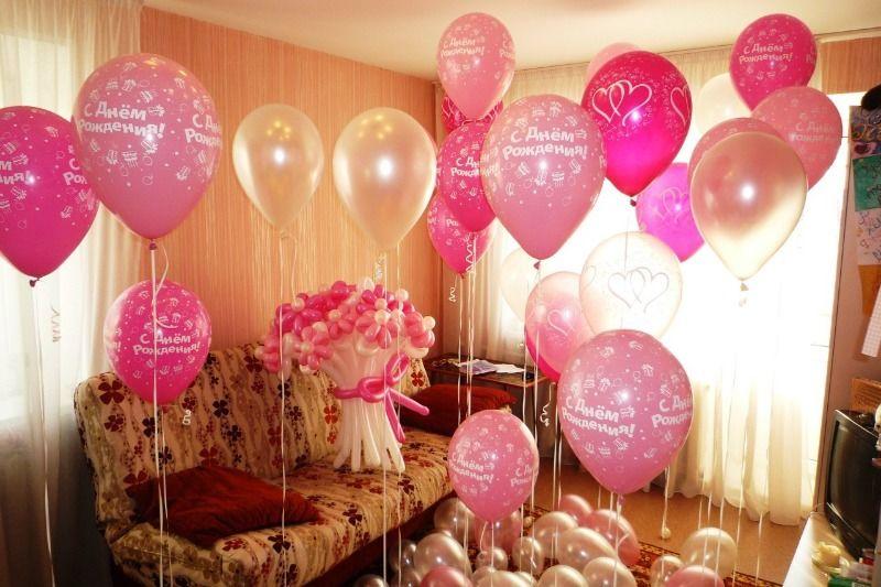 Оформление дня рождения шарами
