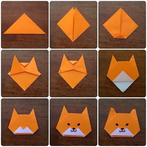 Как сделать котика из бумаги своими руками