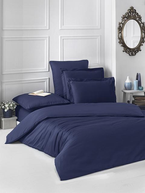 b9ebb5ea6a32 Купить синее постельное белье премиум двуспальное Karna в интернет магазине  в Минске
